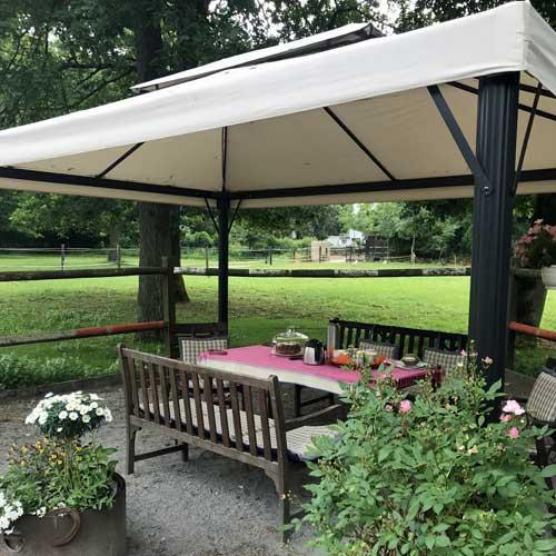 Eventlocation Pavillon für Outdoor Green Meetings in der Natur in Köln / Bergisch Gladbach